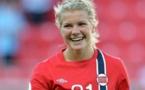 Ada Hegerberg a débuté avec la sélection A à seize ans, le 19 novembre 2011 face à l'Irlande du Nord