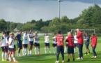 Premier entraînement à Clairefontaine (photo FFF)