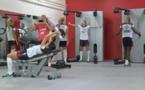 Bleues - Séance de musculation sous la houlette de Frédéric AUBERT (FFF TV)