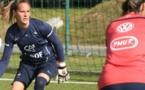 Méline Gérard découvre les Bleues (photo FFF)
