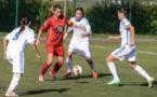 Sarah Verdan, ici en rouge, et le CS Nivolas-Vermelle doivent réitérer leur belle performance des dernières semaines (photo : page facebook du club)