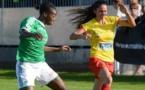 Sissoko ici à gauche, bien malheureuse en marquant contre son camp (photo facebook Albi)