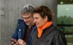 Claude Deville-Cavellin, au second plan, va assurer l'intérim de Sandrine Mathivet à Juvisy (photo W Morice)