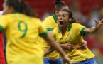 Marta réussit le hat-trick face aux USA (photo CBF)