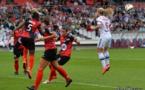 En championnat, Guingamp s'était déplacé à Gerland privé d'une partie de ses internationales U20 tout juste rentrées du Canada