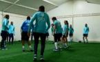 Bleues - La sélection installée au Portugal (FFF TV)