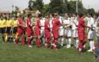En 2006, Florence Guillemin, deuxième en partant de la gauche, arbitrait la finale Montpellier - Lyon à Aulnat (photo Sébastien Duret)