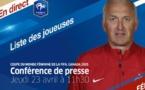 Bleues - Le replay de la conférence de Philippe BERGEROO pour l'annonce des 23 joueuses (FFF TV)
