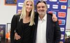 Sofia Jakobsson avec Laurent Nicollin (photo MHSC)