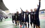 Les Parisiennes fêtent leur qualification devant les 5 859 spectateurs ! (photo UEFA)