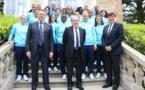 Bleues - Le Ministre en visite à Clairefontaine