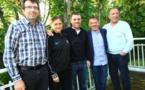 Pierre Gillet, Angélique Roujas, David Fanzel,  Denis Schaeffer et René Franceschetti (photo FC Metz)