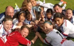 Les Lyonnaises vainqueurs en Rhône Alpes (photo Olympique Lyonnais Féminine U13)