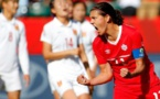 Christine Sinclair libère son équipe (photo FIFA)