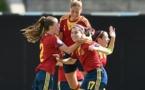 Lucia Garcia a inscrit un triplé contre l'Allemagne (photo UEFA)