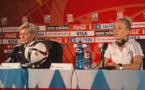 Silvia Neid était détendue lors de la conférence de presse d'avant-match.