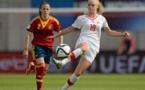 Alisha Lehmann et la Suisse n'ont pas réédité la performance de l'Allemagne en demi (photo UEFA.com)