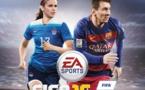 Alex Morgan aux côtés de Messi sur la couverture américaine (crédit DR)