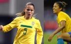 Erika et Cristiane sous le maillot du Brésil (photos DR)