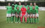 L'équipe alignée lors du premier match amical face à Rodez (photo Yoël Bardy)
