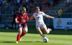 Maureen Cosson face à Charlotte Bilbault lors du match amical (photo W.Morice/FCF Juvisy)