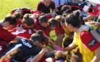 Les joueuses de l'Atletico samedi dernier avant le match contre Oiartzun (photo club)