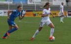 Belkacemi court derrière Erika, à l'aller (photo C Ringaud)