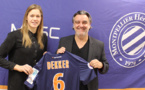 Anouk Dekker avec Laurent Nicollin (photo MHSC)