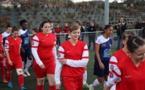 Nivolésiennes et Aurillacoises avant match (photo Stéphane/CS Nivolas)