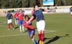 Pauline Crammer a marqué le dernier but contre l'Autriche lors de la petite finale 2015