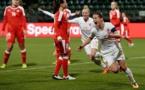 La joie de van den Berg, auteur du troisième but hollandais (photo KNVB)