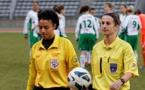 Stéphanie Di Benedetto à gauche, aux côtés d'Elodie Coppola (Arbitre Fédérale Féminine 1)