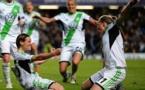 Müller vient d'ouvrir le score sur penalty. Wolfsburg exulte (Photos UEFA)