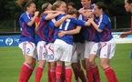 La joie tricolore après l'ouverture du score (photos : Sébastien Duret)