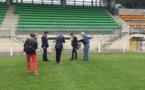 Visite du stade de Saint-Malo il y a une dizaine de jours (photo Ligue de Bretagne)