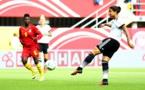 Dzsenifer Marozsan a signé un doublé, ici son premier but (photo DFB)