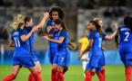Majri félicitée après son coup franc (4-0, 82') (photo FIFA.com)