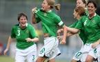 Joie de la buteuse irlande (photo : Darren Kidd/PressEye)