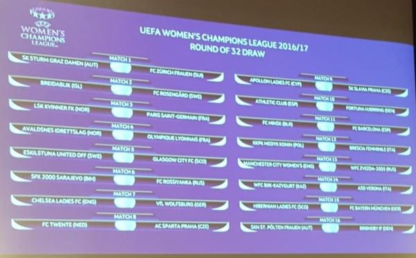 Ligue des Champions - Seizièmes : destination NORVEGE pour l'OL et le PSG, CHELSEA - WOLFSBURG à l'affiche