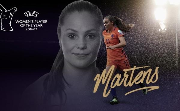 UEFA - Lieke MARTENS fait coup double en étant élue joueuse de l'année
