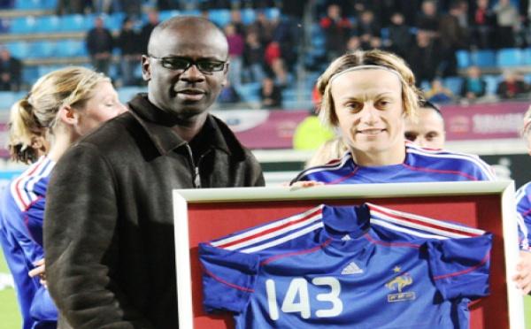 Sandrine Soubeyrand récompensée pour ses 143 sélections