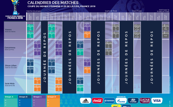 Le football au f minin - Calendrier match france coupe du monde ...