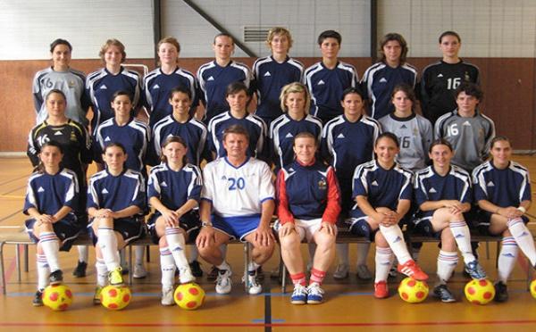 Les joueuses et le programme pour les Universiades de futsal