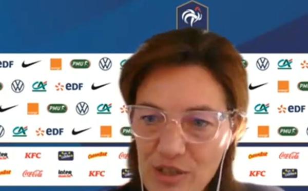 """Bleues - Conférence de presse de Corinne DIACRE : """"Il faudra régler les choses mais aujourd'hui la priorité c'est le match à venir"""""""