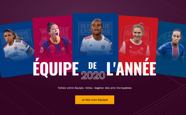 UEFA - Equipe de l'année féminine : les votes ouverts pour cette première