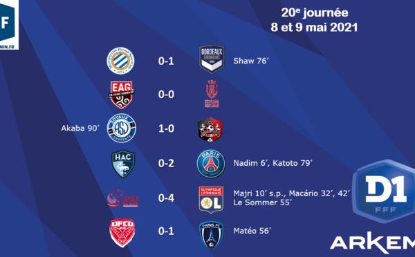 #D1Arkema - J20 : le duel à distance entre l'OL et le PSG se poursuit