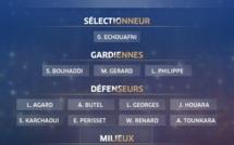 Bleues - Liste pour ANGLETERRE - FRANCE : Laura AGARD et Delphine CASCARINO appelées, Camille CATALA de retour
