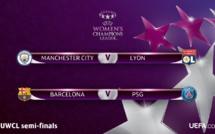 Ligue des Champions - MANCHESTER CITY - LYON et BARCELONE - PSG en demi-finales