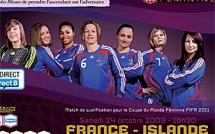 Les 18 Bleues pour France - Islande, le 24 octobre à Lyon