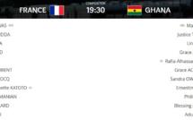 #U20WWC - FRANCE - GHANA : les compositions